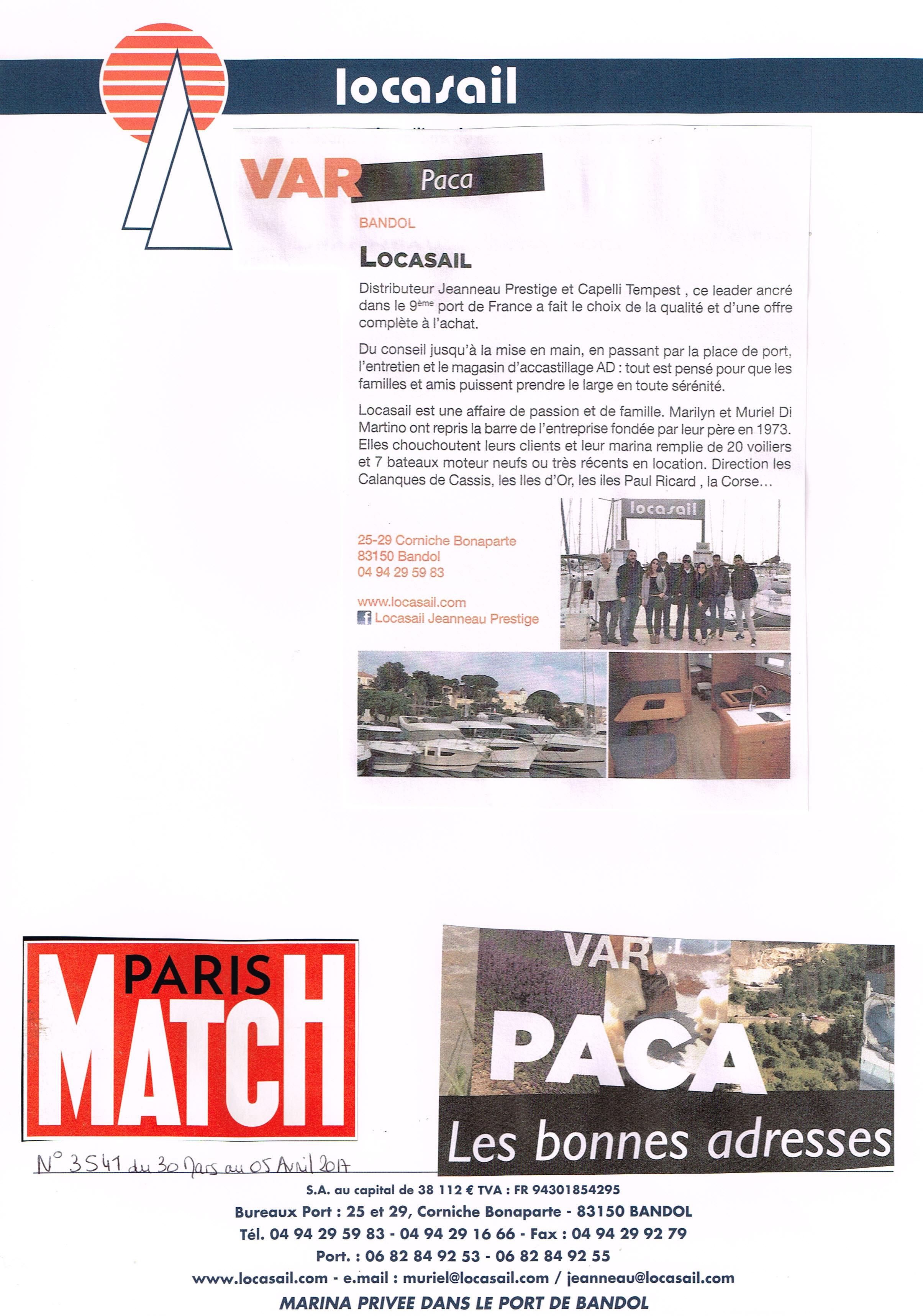 Paris Match Les Bonnes Adresses Paca Locasail La